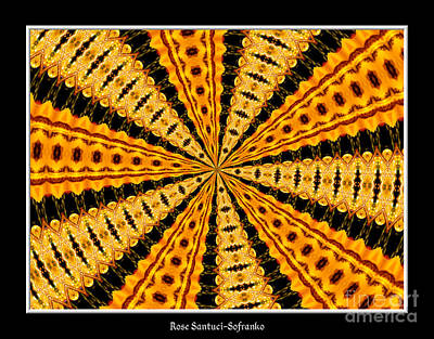 Mandala Photograph - Stained Glass Kaleidoscope 37 by Rose Santuci-Sofranko