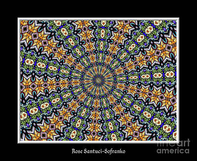 Glass Photograph - Stained Glass Kaleidoscope 51 by Rose Santuci-Sofranko