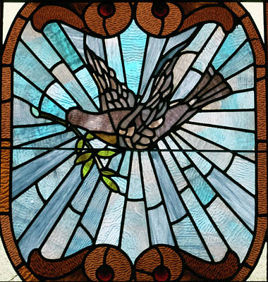 Stained Glass Lc 14 Art Print by Thomas Woolworth