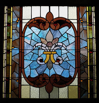 Stained Glass Lc 19 Art Print by Thomas Woolworth