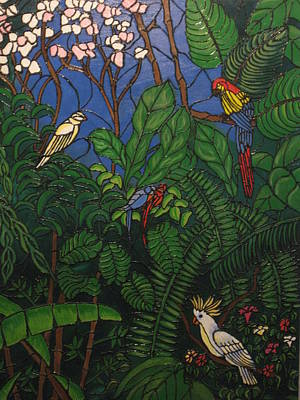 Tropical Stain Glass Painting - Stained Glass Perfection by Donna Sigmon