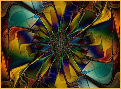 Glass Wall Digital Art - Stained Glass Petals by Amanda Moore
