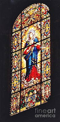 Photograph - Stained Glass Window by Barbara Plattenburg