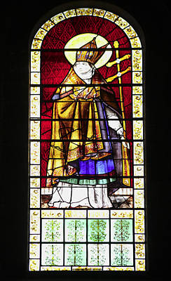 Photograph - Stained Glass Window Of A Clergyman by Paul Cowan