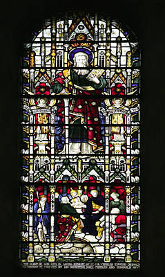 Photograph - Stained Glass Window Of St Paul by Paul Cowan