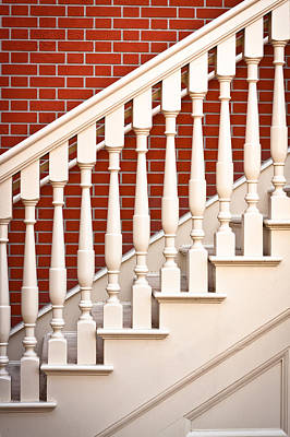 Stair Case Art Print by Tom Gowanlock