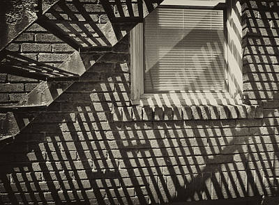 Photograph - Stair Shadow by Tom Bush IV