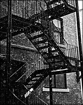 Janet Smith Photograph - Staircase Black And White by Janet Smith