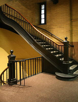 Staircase In The Boston Armory Art Print