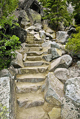 Staircase To Eagle Falls Lake Tahoe Print by LeeAnn McLaneGoetz McLaneGoetzStudioLLCcom