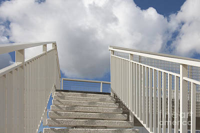 Stairs And Clouds Print by Jaak Nilson