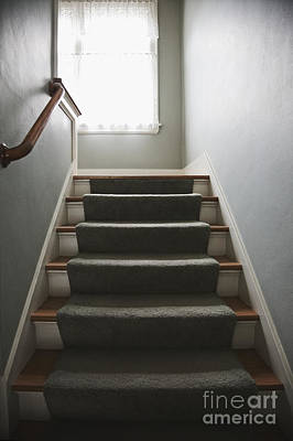 Stairs And Hand Rail Art Print by Jetta Productions, Inc