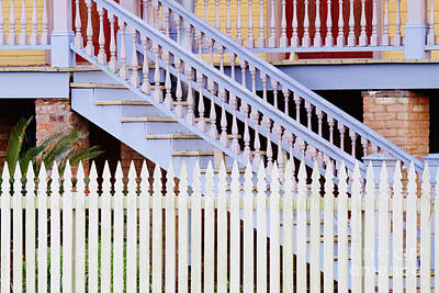 Stairs And White Picket Fence Art Print by Jeremy Woodhouse