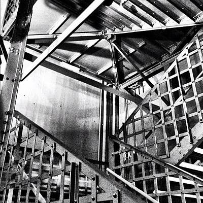Steel Photograph - #stairs #building #architecture #steel by Glen Offereins