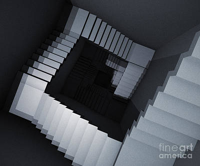 Digital Art - Stairs Down by Igor Kislev