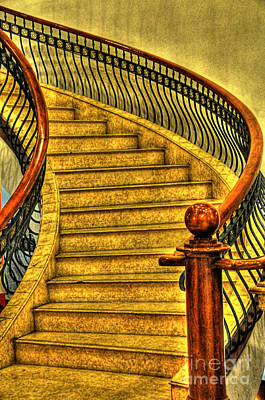 Photograph - Stairs Hdr Processing by Charuhas Images