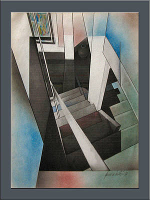 Photograph - Stairscape 2002  by Glenn Bautista