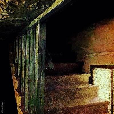 Stairway - Up The Back Way... #edit Art Print