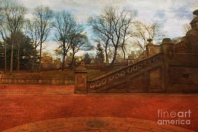 Stairway In Central Park Art Print