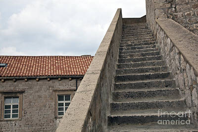 Stairway In Dubrovnik Art Print by Madeline Ellis