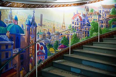 Sacre Coeur Photograph - Stairway Mural 2 At Montmarte Metro Exit. by Jon Berghoff