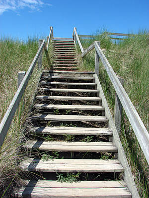 Mixed Media - Stairway Over The Dunes by Bruce Ritchie