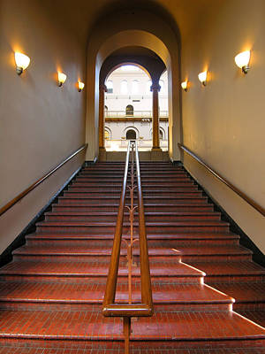 National Building Museum Photograph - Stairway To Balcony by Steven Ainsworth