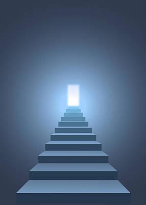 Target Threshold Watercolor - Stairway to heaven by Igor Sinitsyn