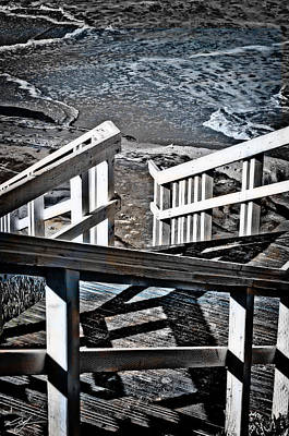 Ocean Front Landscape Digital Art - Stairway To San Diego by Mark Vizcarra