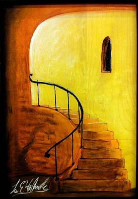 Mixed Media - Stairwell by Lee Halbrook