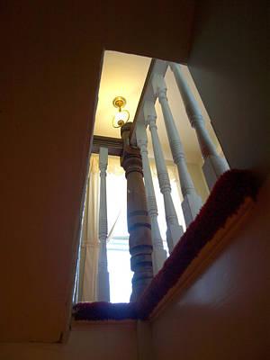 Photograph - Stairwell Peekhole by Katherine Huck Fernie Howard