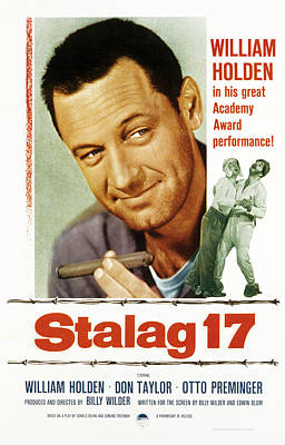 Cleft Chin Photograph - Stalag 17, Poster Art, William Holden by Everett
