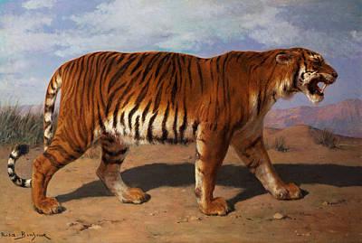 Tiger Painting - Stalking Tiger by Rosa Bonheur
