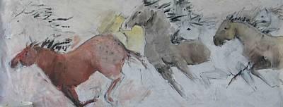 Painting - Stampede Mural by Elizabeth Parashis