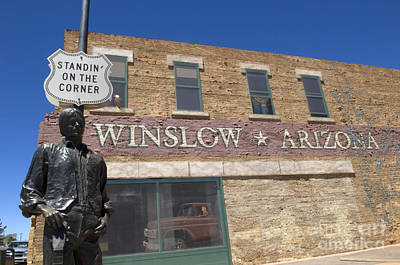 Photograph - Standin On The Corner In Winslow Arizona by Bob Christopher