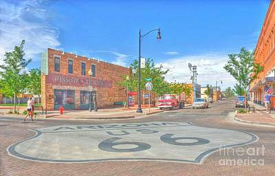Standin On The Corner Route 66 Art Print by John Kelly
