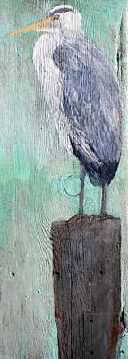 Standing Heron Art Print by Lisa Baack