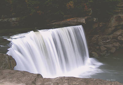 Art Print featuring the photograph Standing In Motion  Cumberland Falls 01 by George Bostian