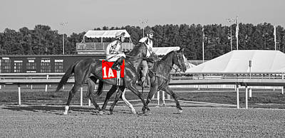 Horse Racing Photograph - Standing Out by Betsy Knapp