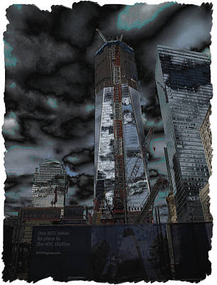 Rememberance Digital Art - Standing Proud Wtc One by Anthony Chia-bradley