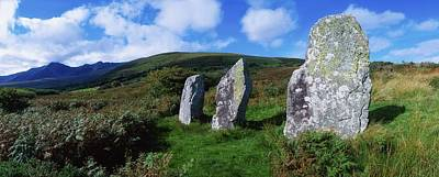 Megalith Photograph - Standing Stone Alignment, Near by The Irish Image Collection