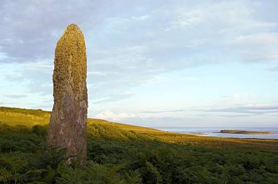 Islay Photograph - Standing Stone, Scotland by Duncan Shaw