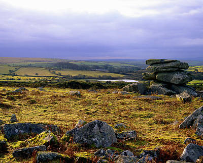 Bodmin Photograph - Standing Stones, Carbilly Tor, Bodmin Moor, Cornwall, England, Uk Carbilly Tor, Bodmin Moor Lies North East Of The Town Of Bodmin, Cornwall The Standing Stones Are Known As The Cheese-wring by Philip Fenton Lrps