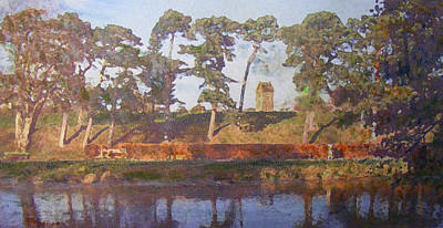 Standrewstower From Haylodge Park Art Print by Richard James Digance