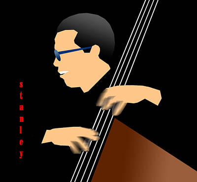 Jazz Digital Art - Stanley Clarke by Victor Bailey