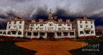 Photograph - Stanley Hotel Painting by Donna Greene