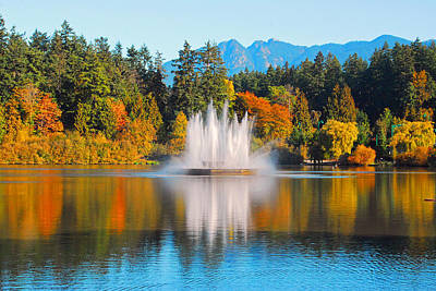 Photograph - Stanley Park Fountain by Lynn Bauer