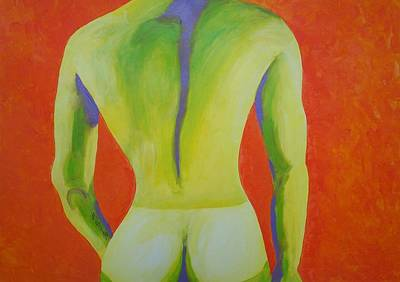 Male Painting - Stans Tan Line by Randall Weidner