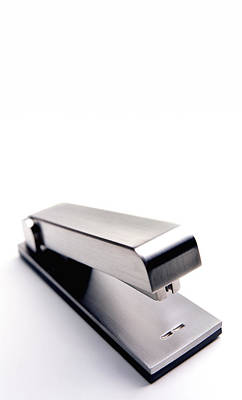 Y120831 Photograph - Stapler With Copy Space by Peter Dazeley