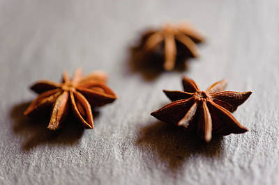 Anise Photograph - Star Anise On Slate Tray by Alexandre Fundone